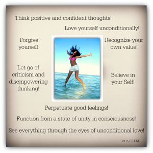 Positive thinking and confidence